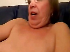 Granny In Glasses Toys And Sucks Cock