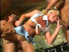 Blond Melissa Gets A Brutal Treatment